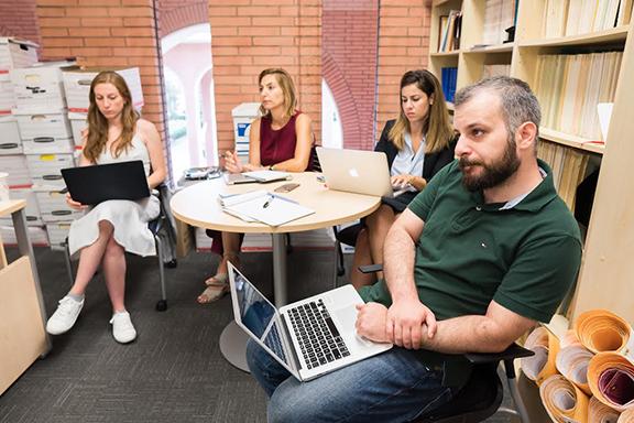 Staff at USC Institute of Armenian Studies. (Photo by Nanor Zinzalian)