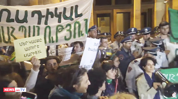 Protesters demand Amulsar closure
