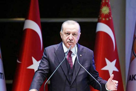 Turkish President Recep Tayyip Erdogan speaks to his AKP on Oct. 30