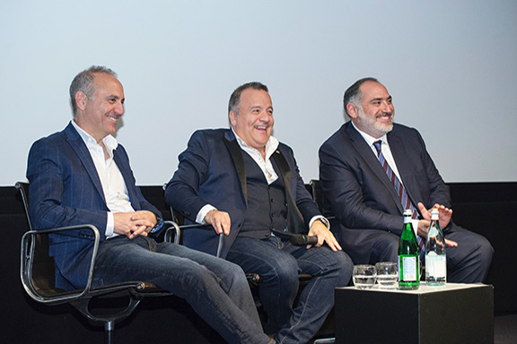 """The individuals behind the making of """"Armenia Uncovered."""" From l to r: Director Andy Simon, Kev Orkian, and Executive Producer Raffi Tanielia"""
