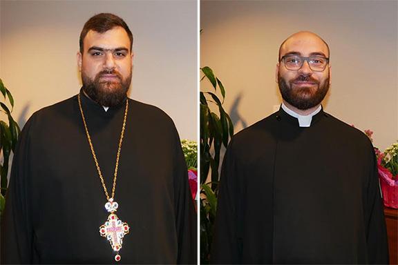 Very Rev. Smpad Saboundjian (left) and Very Rev. Ashod Khachadourian