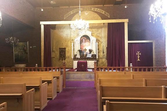 Inside the Södertälje's Armenian church