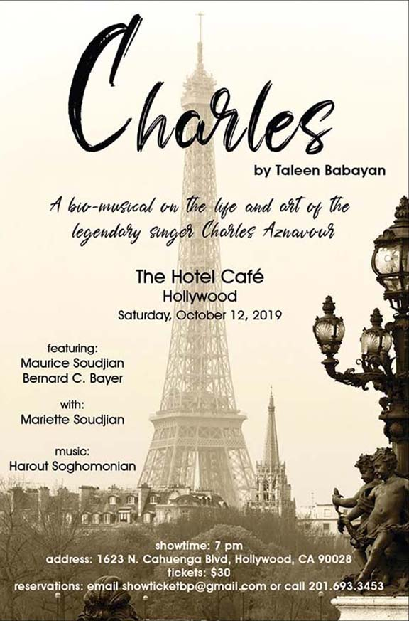 """Taleen Babayan's """"Charles"""" will debut at The Hotel Café in October"""