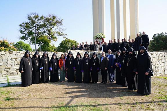 The clergymen at Montebello Genocide Memorial