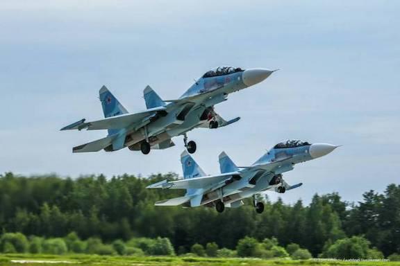 Russian SU-30SM aircraft