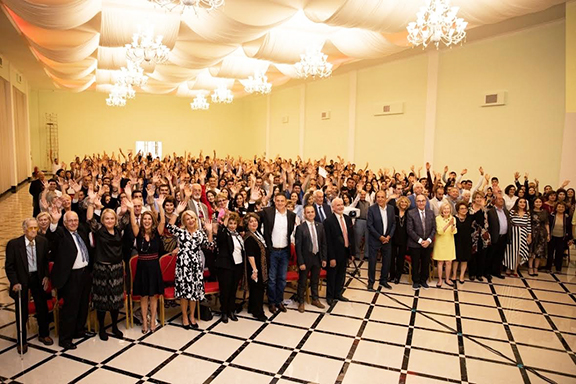 Participants of AEF's 2019 scholarship reception, including scholarship recipients and sponsors