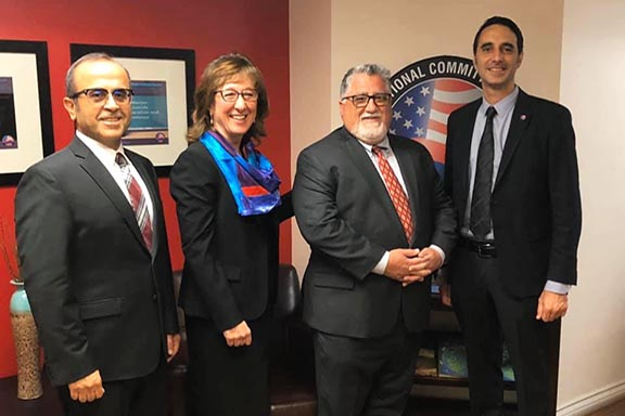 Members of the ANCA Crescenta Valley Chapter with Senator Portantino