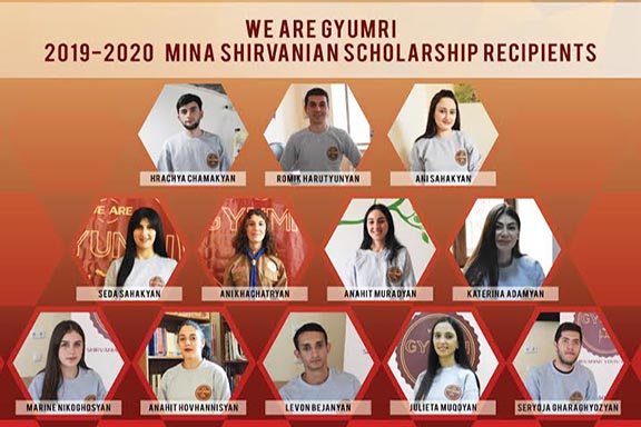 "Recipients of the 2019-2020 ""We Are Gyumri"" Mina Shirvanian Scholarship"