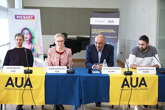 From left: Aram Hajian, Karin Markides, Hovhannes Avoyan, Gurgen Khostikyan