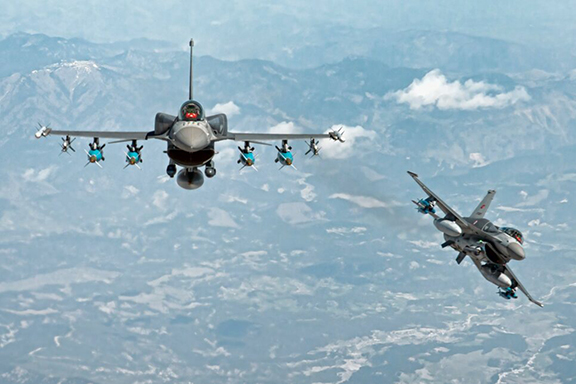 An article claimed that Ankara was planning to use F-16 fighters to attack Armenia