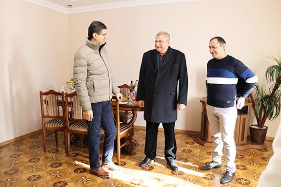 From left: Ralph Yirikian, Koryun Kirakosyan and Ashot Yeghiazaryan