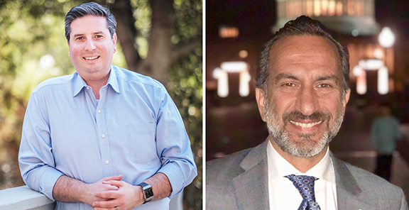 Ardy Kassakhian (;left) and Leonar Manoukian were endorsed by the LA County Democratic Party for their Glendale City Council bids