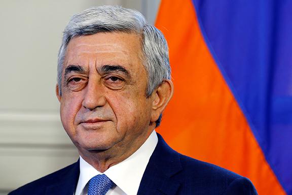 Armenia's former president Serzh Sarkisain