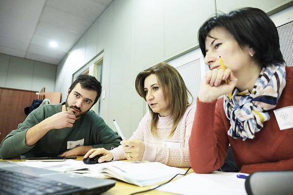 A scene from the STEM Education for Armenian Youth programs first three-day workshop