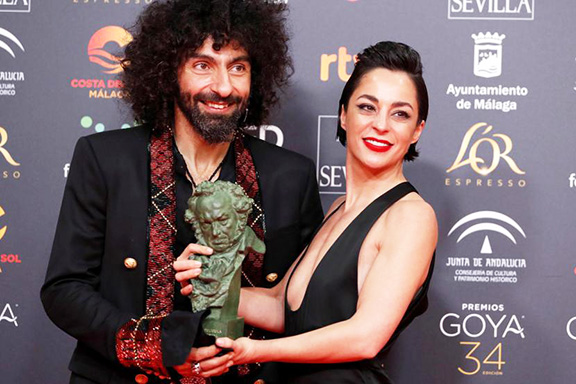 Ara Malikian and Nata Moreno. Photo: Jorge Zapata/EFE