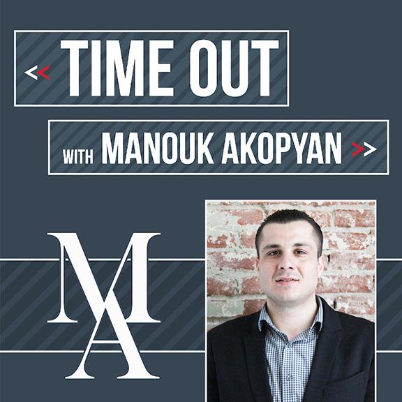 """Manouk Akopyan's new radio show """"Time Out With Manouk Akopyan"""""""