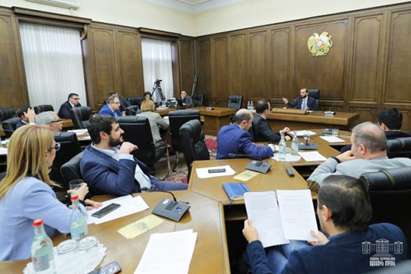 National Assembly Speaker Ararat Mirzoyan convenes a session of the leadership council of the parliament