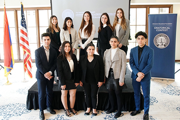 Participants of the 2020 Oratorical Contest