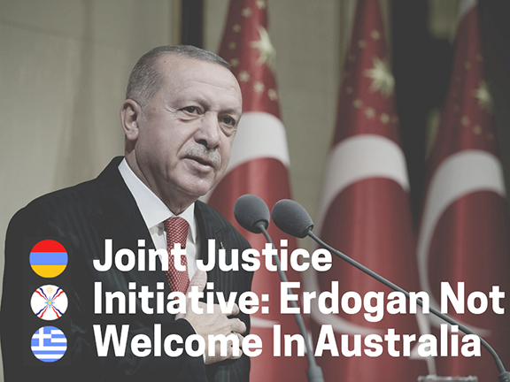 The Joint Justice Initiative vehemently reject Erdogan's proposed visit to Australia