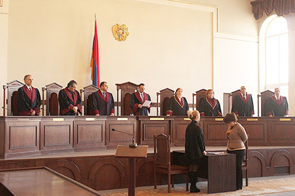 The justices of Armenia's Constitutional Court