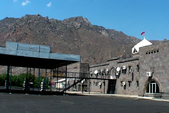 The Meghri checkpoint on the Iran-Armenia border