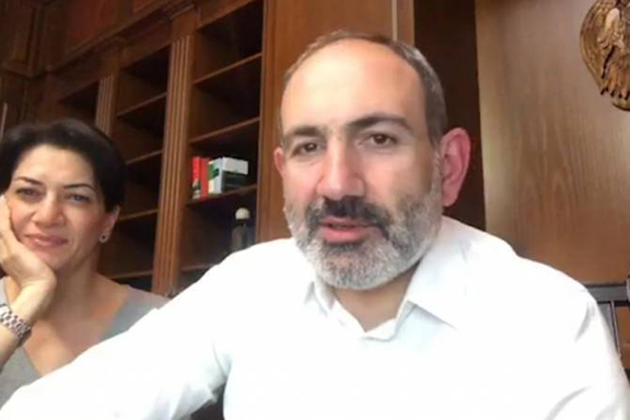 Prime Minister Nikol Pashinyan and his spouse, Anna Hakobyan, in a Facebook post on Friday