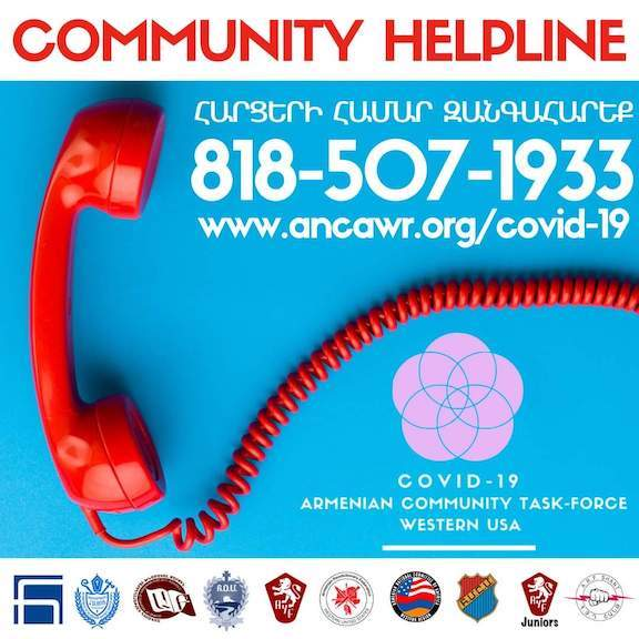 Armenian Community COVID-19 Task Forces launches Hotline, website