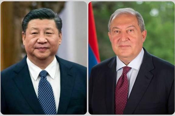 China's president Xi Jinping and President Armen Sarkissian