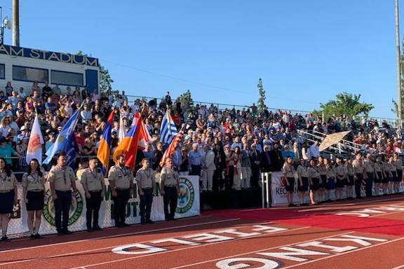 The closing ceremonies of the 44th Homenetmen Navasartian Games in 2019