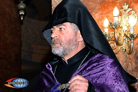 Archbishop Navasard Kchoyan has been charged with fraud and embezzlement