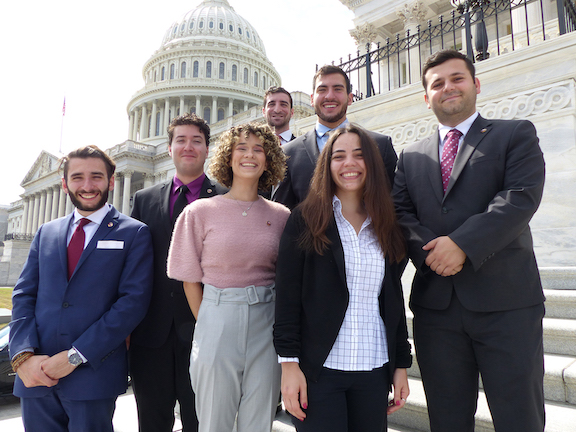 The Fall 2019 ANCA Hovig Apo Sagdejian Capital Gateway Program (CGP) team with ANCA Programs Director Sipan Ohannessian.  Since 2003, the CGP has helped over hundreds of recent graduates begin their policy, politics and media careers in Washington, DC