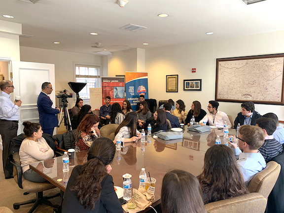A scene from the inaugural ANCA Rising Leaders program in March, 2019, where the ANCA presented a three-day program focusing on career development and Armenian American advocacy geared toward university students