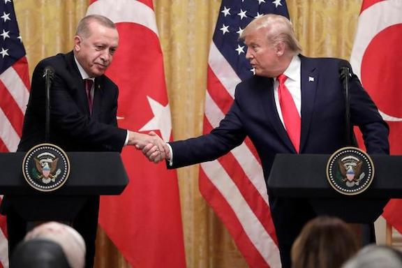 President Trump with with his Turkish counterpart Recep Tayyip Erdogan in November, 2019 at the White House