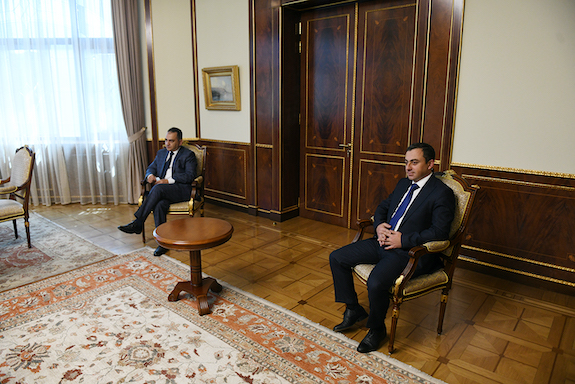 ARF Supreme Council of Armenia chairman Ishkan Saghatelyan and ARF Bureau member Arsen Hambartsumyan