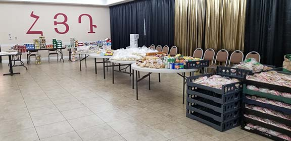Supplies have been arranged at the Hollywood Youth Center to be packaged for home delivery