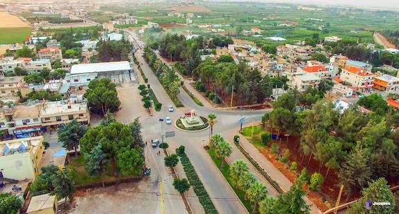 An aerial view of Anjar, Lebanon