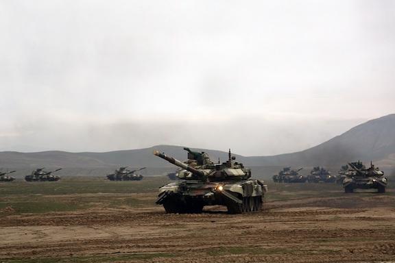 Azerbaijani tanks