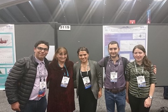 From l to r:  Davit Aslanyan, CRD; Dr. Deneb Karents, San Francisco; Dr. Hripsime Mkrtchyan, CRD; Dr. Bagrat Mailyan, CRD and Univ. of Huntsville, AL; Gayane Karapetyan, CRD