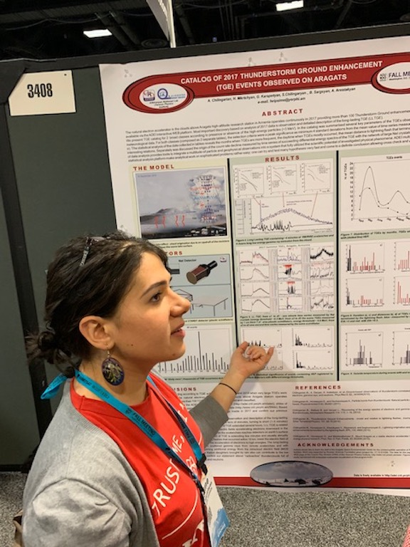 Dr. Hripsime Mkrtchyan, CRD, explaining her research