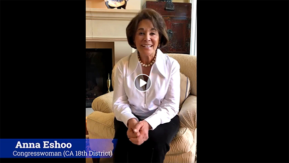 Congresswoman Anna Eshoo (D-CA), whose family survived the Armenian and Assyrian Genocides, joins in the Northern California virtual commemoration of those crimes.