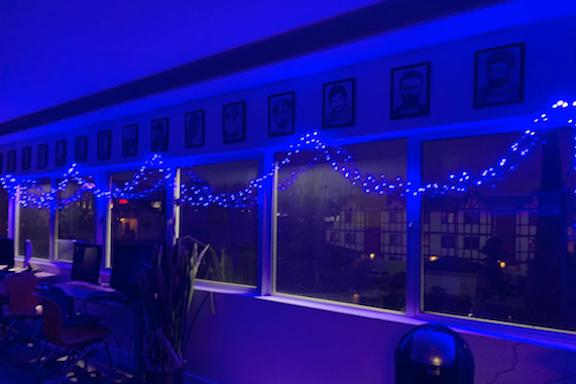 The Glendale Youth Center went Blue in appreciation o healthcare workers