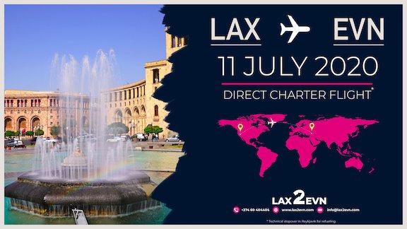 L.A.-Yerevan charter flights will begin on July 11