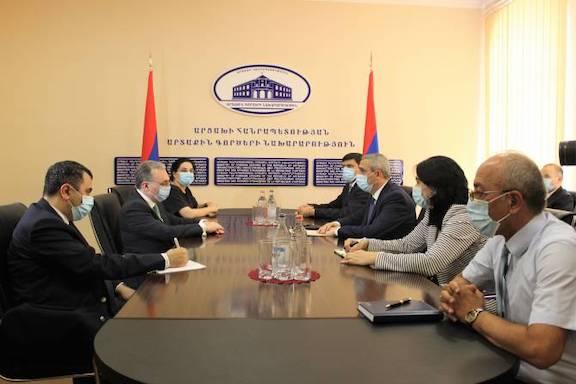 The foreign ministers of Armenia and Artsakh, Zohrab Mnatsakanyan and Masis Mayilyan met in Stepanakert on July 4