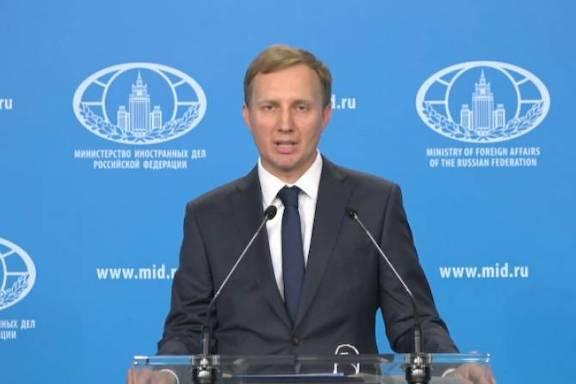 Aleksey Zaytsev is a Russian foreign ministry spokesperson