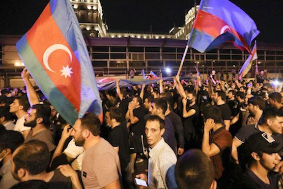 """Death or Armenians,"" chanted the Azerbaijani protesters in Baku's Azadliq Square"