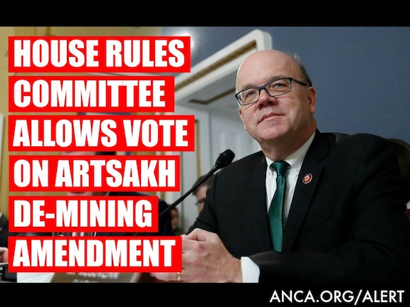 The U.S. House Rules Committee, led by Chairman Jim McGovern (D-MA) cleared the path for a full House vote on an amendment to continue U.S. funding for Artsakh de-mining.