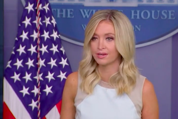 White House Press Secretary Kayleigh McEnany during Monday's briefing