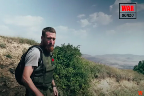 Russian war correspondent Smyon Pegov of the War Gonzo Project was the first journalist who managed to get as close as possible to the Armenia-Azerbaijani border last week