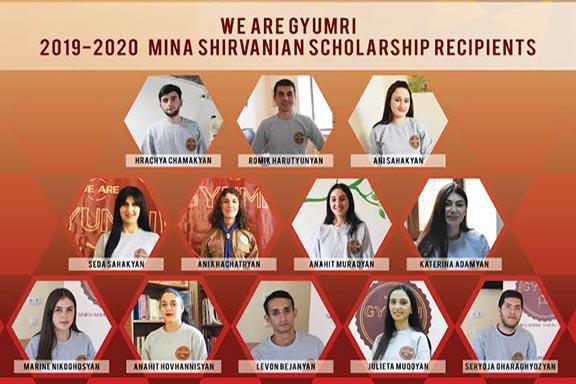 The 2019-2020 Mina Shirvanian Scholarship recipients