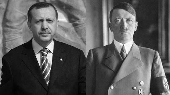 Turkey's President Recep Tayyip Erdogan is on his way to become Adolf Hitler